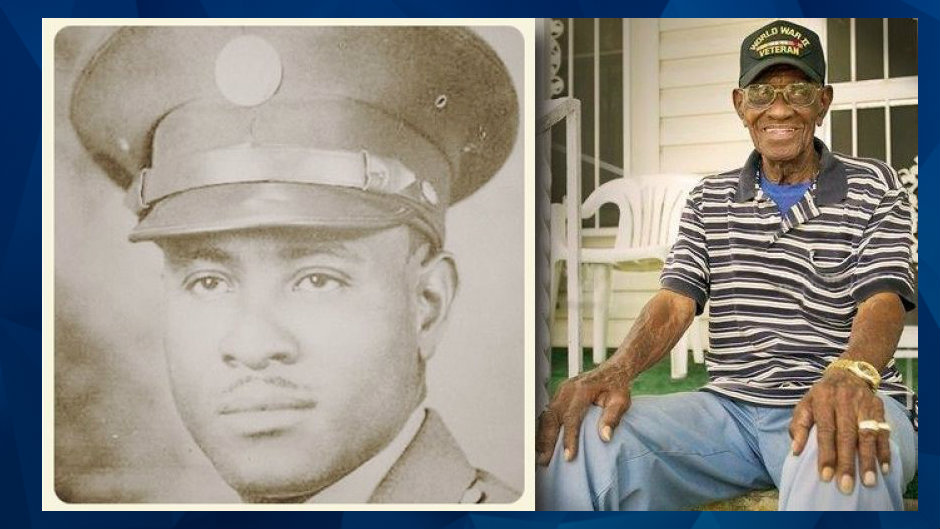 IMG RICHARD OVERTON, American Supercentenarian, who Served in the United States Army