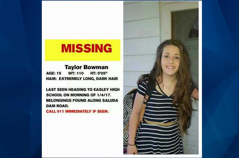Taylor Bowman missing
