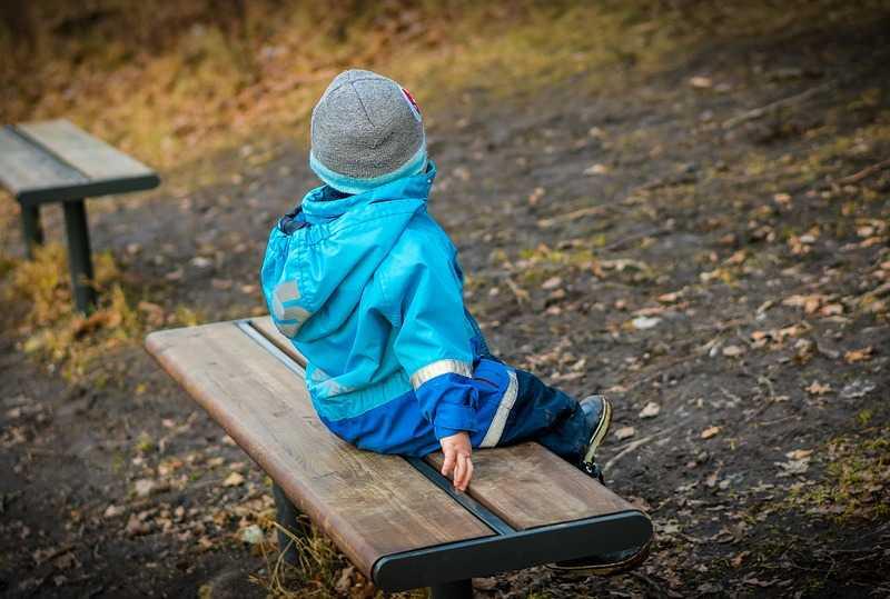 child sitting alone