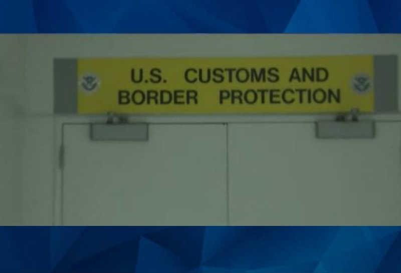 Us Customs sign