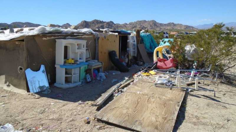 Kids found living in shack