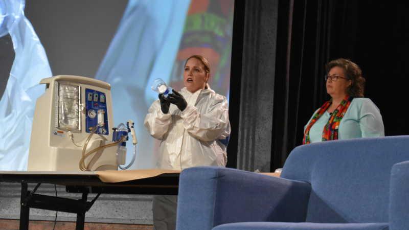 Dr. Laura Pettler and Sheryl McCollum