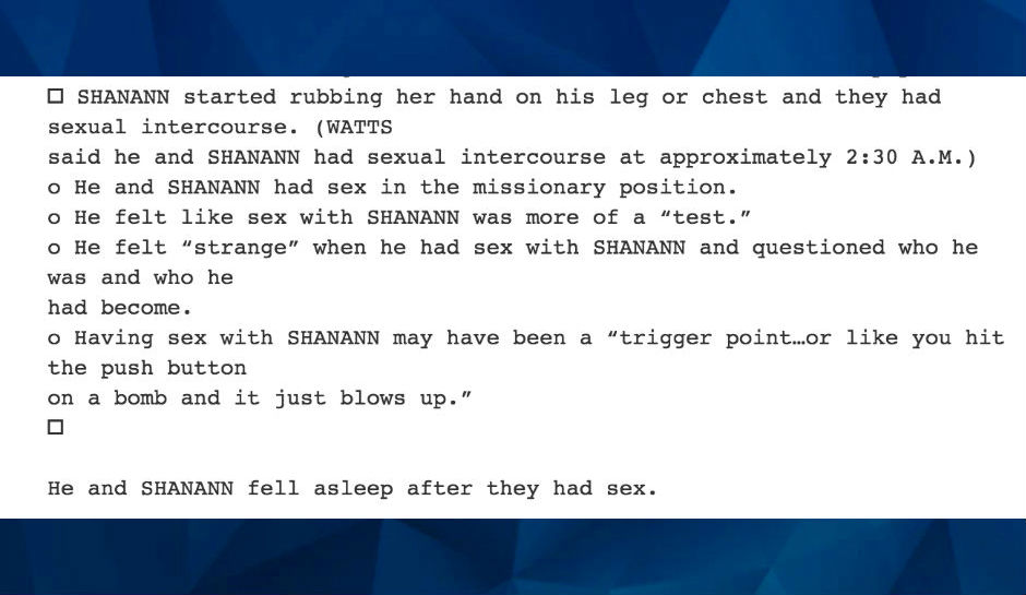 Killer Dad Chris Watts had sex with pregnant wife Shanann