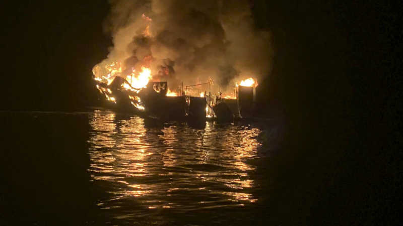 Santa Cruz Island boat fire