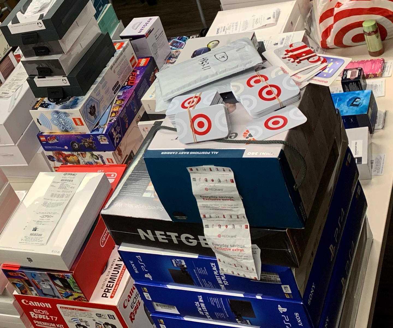 Target scam haul