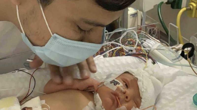 James Alvarez and baby