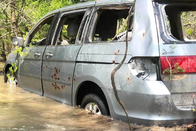 bullet riddled van