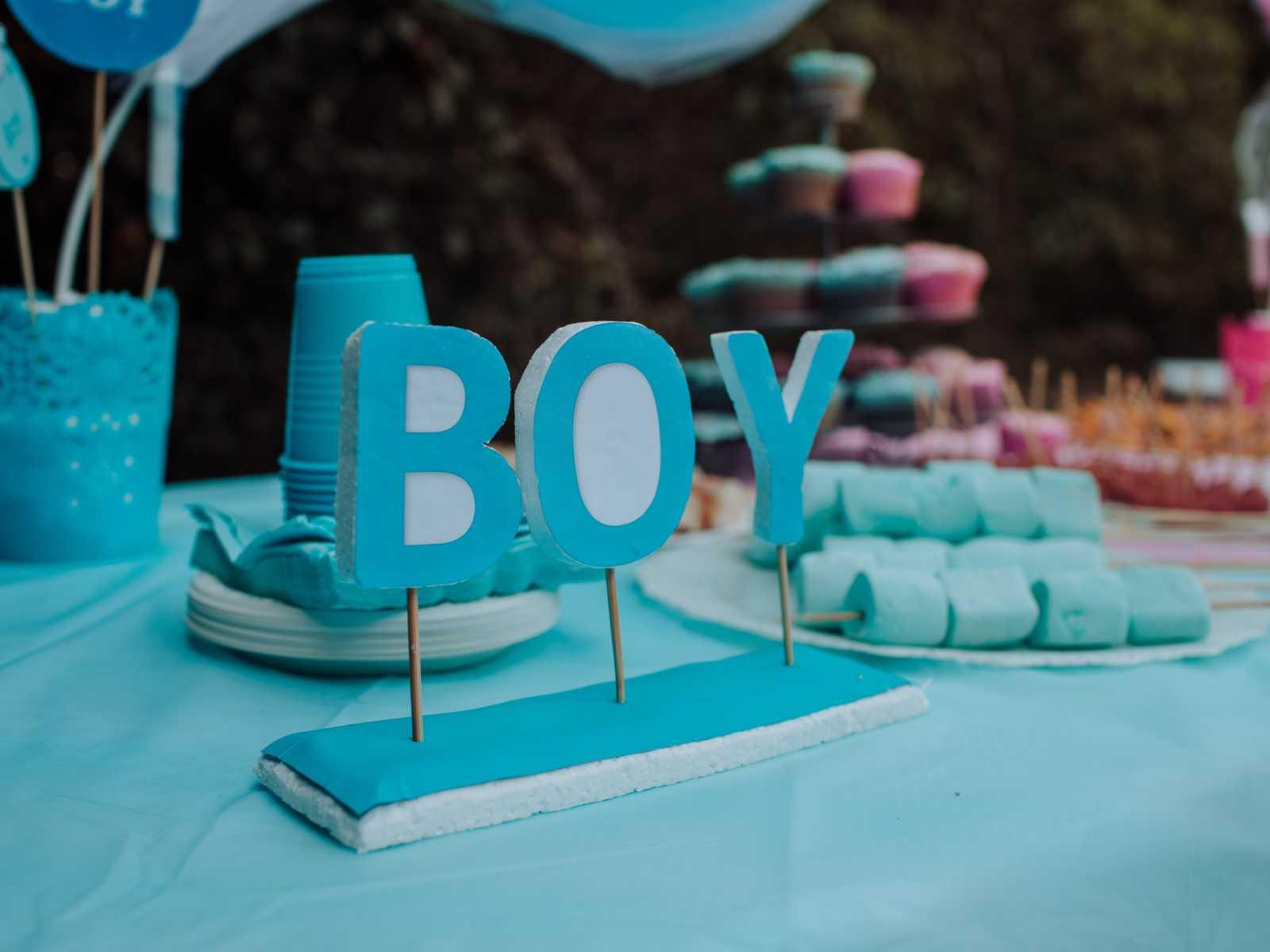 gender reveal boy