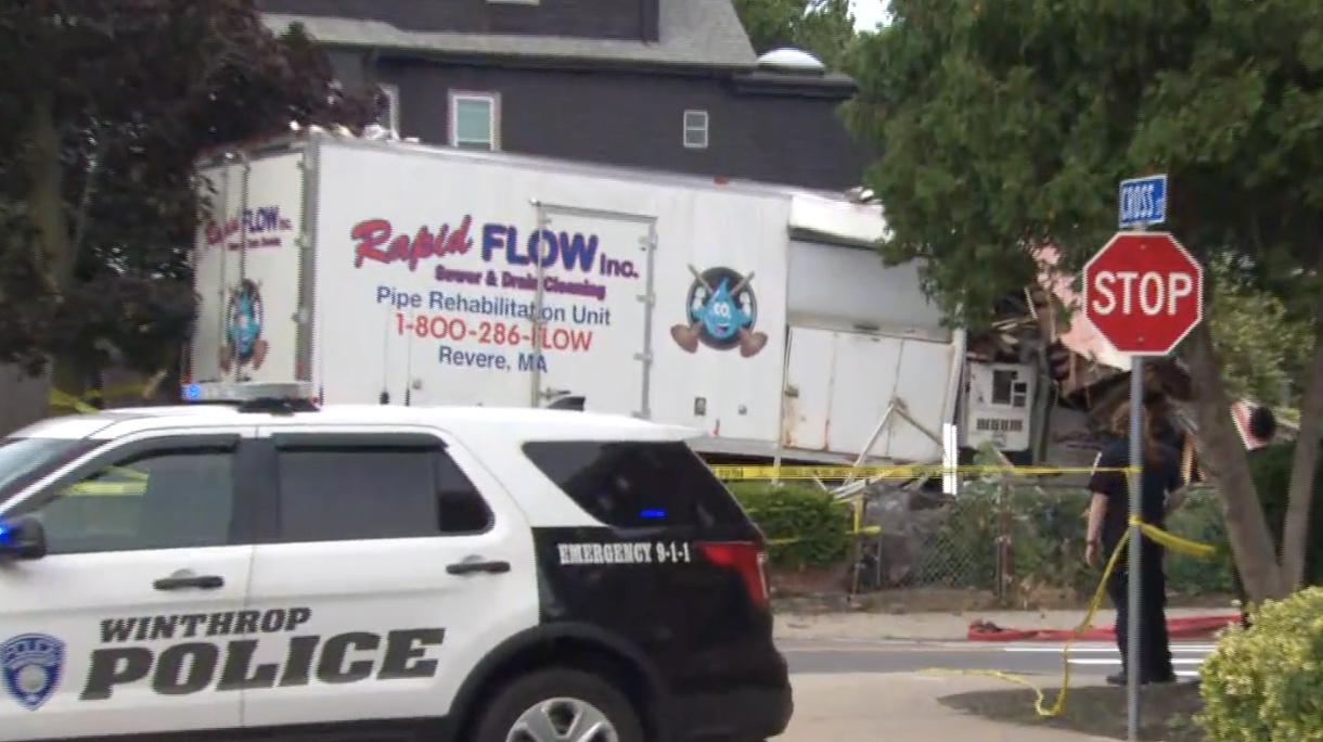 truck stolen, crashed, 3 shot