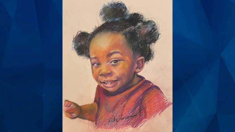 Sketch of deceased toddler