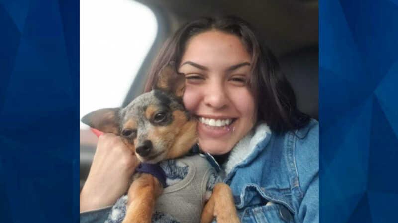 Haylie Gonzalez with pet dog