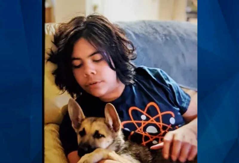 Jacob McCarty with dog