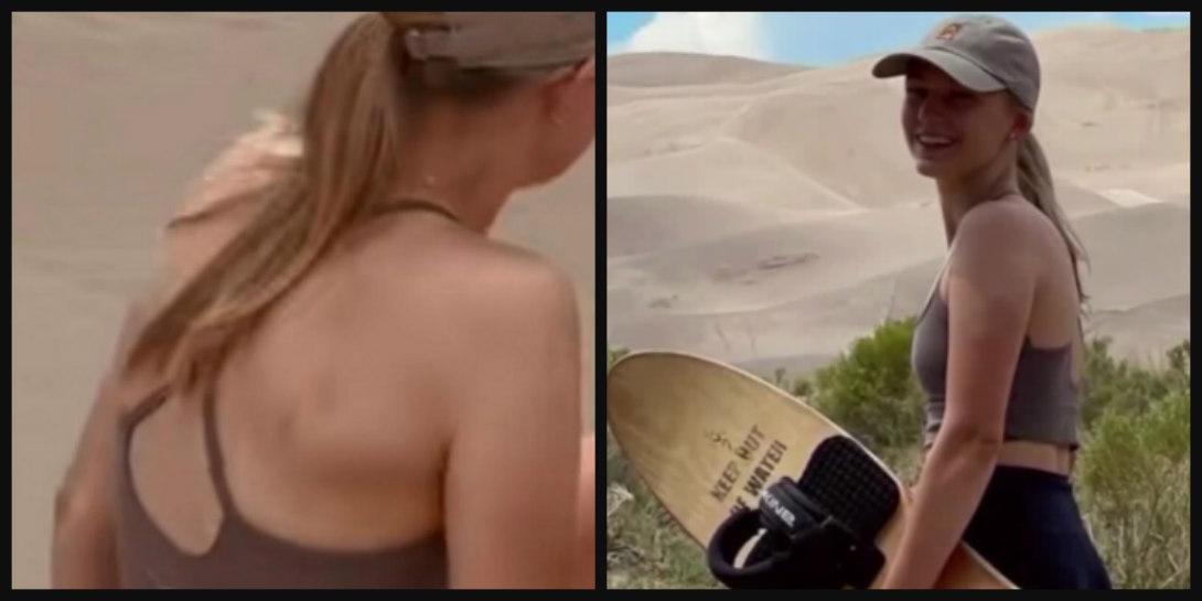 Sand Surfing Gabby Petito