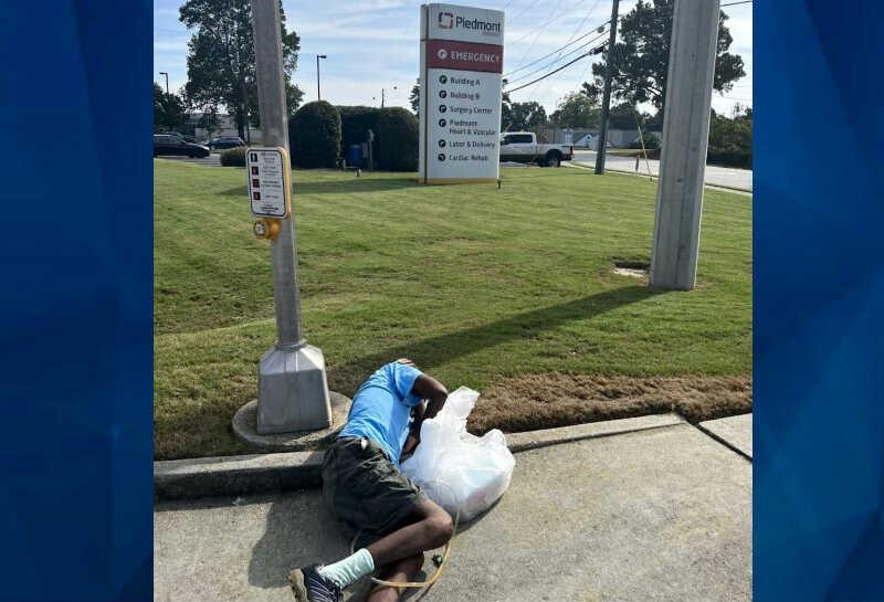 patient left in street Atlanta